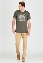 JEEP - Short Sleeve Printed T-Shirt Khaki Green