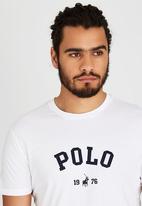 POLO - Classic printed tee - white
