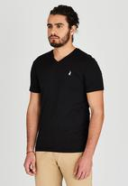 POLO - Basic V-neck tee - black