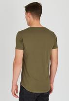 S.P.C.C. - SPCC Chest Print T-Shirt Khaki Green
