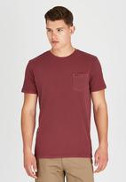 RVCA - PTC 2 Pigment T-Shirt Dark Red