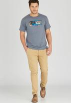 JEEP - Short Sleeve Printed T-Shirt Grey