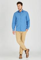 JEEP - Long Sleeve Check Shirt Blue