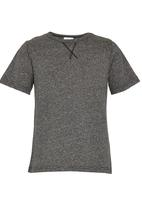 Rebel Republic - Tee with Rolled Up Sleeves Grey