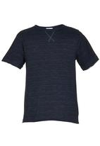 Rebel Republic - Tee with Rolled Up Sleeves Navy