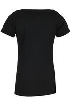 GUESS - Rolled Sleeve Logo Tee Black