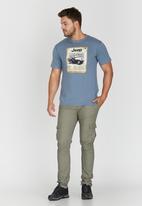 JEEP - Short Sleeve Printed T-Shirt Blue