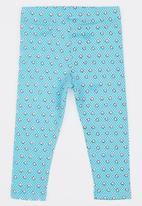 POP CANDY - Stripe  Leggings Pale Blue