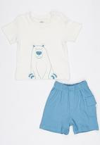 Baby Corner - Polar Bear 2 Piece T-Shirt Short Set Multi-colour