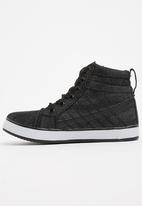 Awol - Boys High Top Sneaker Black