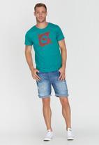 Lizzard - Wheeler Short Sleeve Slim Fit T-Shirt Blue