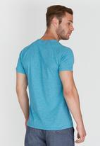 Lizzard - Coastal Short Sleeve Raglan  T-Shirt Blue