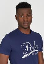 POLO - Classic Applique Crew-Neck T-Shirt Navy
