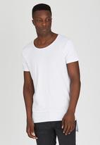 S.P.C.C. - Oversized Raglan Sleeve Tee with Mesh Inserts White