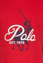 POLO - Rick white crew neck tee Red