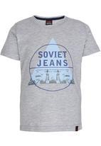 SOVIET - Boys Printed Tee Grey