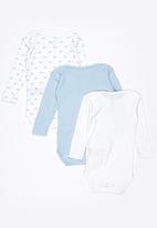 name it - 3 Pack Long Sleeve Set Blue