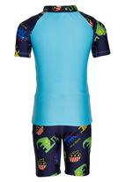 POP CANDY - Boys Printed Swimsuit Blue
