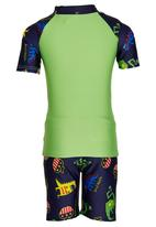 POP CANDY - Boys Printed Swimsuit Green