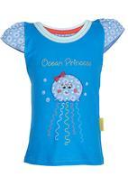Hooligans - Ocean Princess Tee Mid Blue