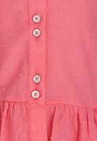 See-Saw - Peplum Blouse Dark Pink