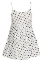 See-Saw - Tiered Summer Dress White