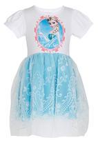 POP CANDY - Girls Printed  Dress Pale Blue
