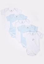 Baby Corner - 5 Pack Short Sleeve Bodysuit  Multi-colour