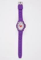 Cool Kids - Girls Watch & Heart Pendant Set Mid Purple