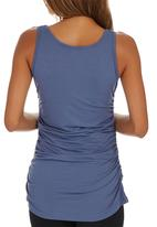 Cherry Melon - Side Gauge Tank Top Mid Blue