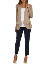 edit Maternity - Waterfall Cardigan Stone