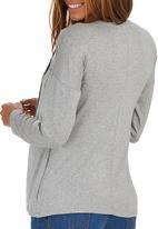 edit Maternity - Long Sleeve Wrap T-shirt Grey