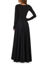 ERRE - Long Circle Dress Black