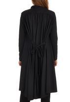 ERRE - Long Gathered Jacket Black