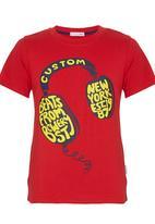 POP CANDY - Headphone T-shirt Red