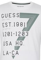 GUESS - Roper Binded Tee White