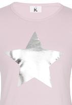 Rebel Republic - Printed Tee Pale Pink