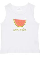 Luke & Lola - Watermelon Print Vest White