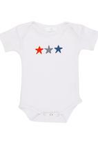 Luke & Lola - Printed Shortsleeve Babygrow White