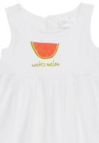 Luke & Lola - Dress with Watermelon Print White