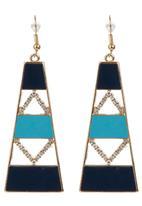 edit - Aztec Drop Earrings Gold