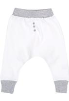 Luke & Lola - Harem Pants with Button Detail Grey