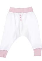 Luke & Lola - Harem Pants with Button Detail Pale Pink