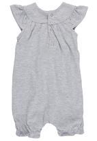 Luke & Lola - Romper with Pockets Grey Melange