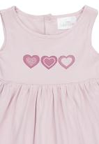 Luke & Lola - Dress with Heart Print Pale Purple