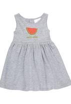 Luke & Lola - Dress with Watermelon Print Grey Melange