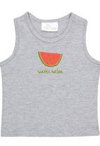 Luke & Lola - Watermelon Print Vest Grey Melange