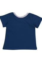 Luke & Lola - T-Shirt with Contrast Pocket Navy