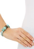 edit - Ornate Beaded Bangle Turquoise