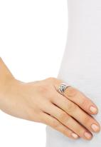 edit - Quilt Effect Ring Silver